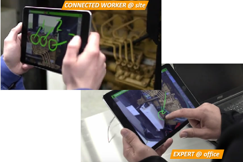 Augmented Reality Connected Worker